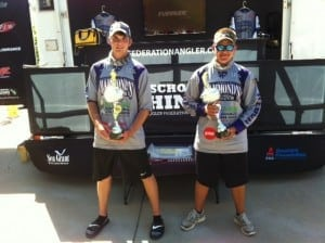 Cole Cloud and Ronnie Warsop put together an impressive five bass limit that weighed 17lbs 13oz to win the Georgia High School State Championship on beautiful Lake Lanier in Northeast Georgia.